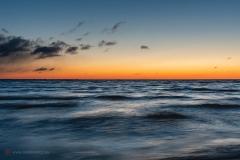 Cypel Rewski tuż przed wschodem słońca