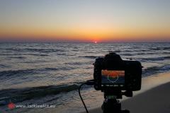 Nad Bałtykiem o wschodzie słońca